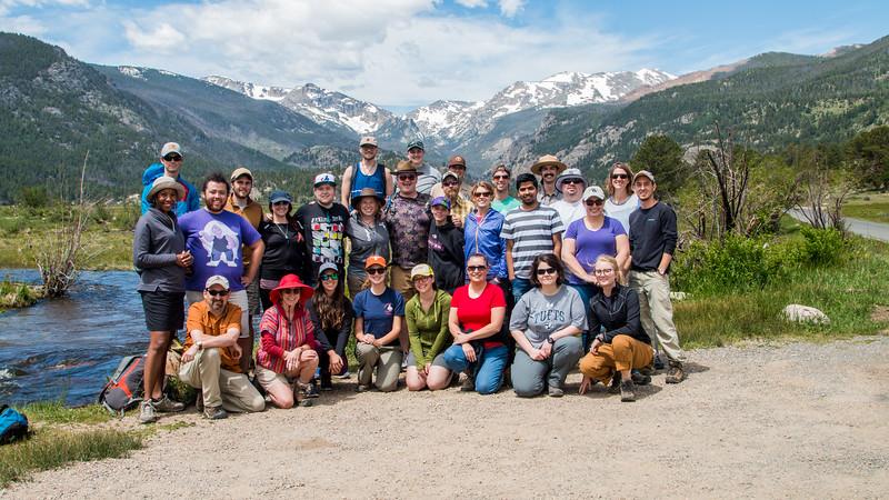 2017 RMNP Field Trip Interns Group Photo